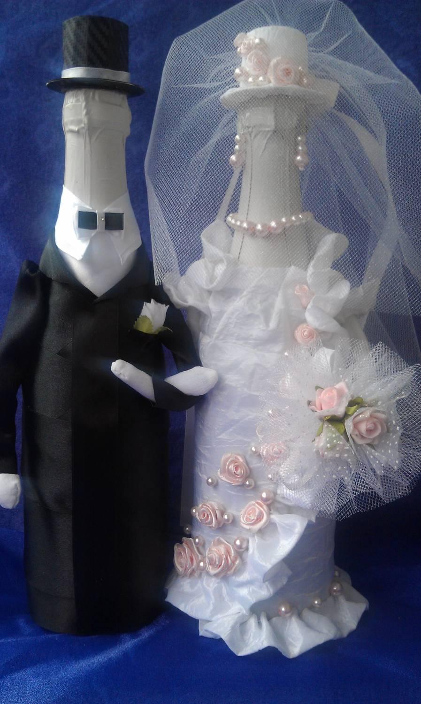 Свадебная бутылка-жених » Сделай сам своими руками 67